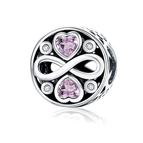 Forever-Love-Charm-Anhänger, 925erSterlingsilber, für Pandora und europäische Armbänder (Pandora-armbänder Und Charms)