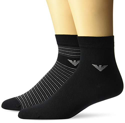 Emporio Armani Underwear Herren Men'S Knit Asian Fit Socken, Schwarz (Nero 00020), One Size