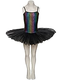 Black Star Print Dance Ballet Leotard Tutu Childs Ladies Sizes halloween By Katz Dancewear