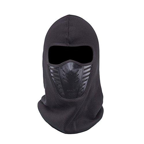 FaithYoo PM2.5 Thermo-Gesichtsmaske, multifunktionaler Schal, winddicht, staubdicht, für Außensport/ Motorrad/ Reiten, mit Kohlestoffschutzfilter, Dunkelblau schwarz (Ski Green Maske Skull)