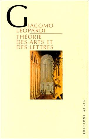Théorie des arts et des lettres