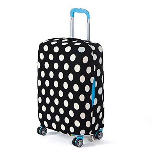 EMVANV Koffer-Schutzhüllen für Koffer, elastisch, Gepäckabdeckung, Schutz, Black White Dots, XL