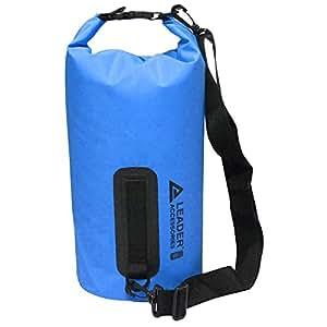 Leader International Sacca Stagna, Custodia/Zaino Stagna,PVC Sacchetto Impermeabile per Attività Sportive,Dry Bag per Nuoto Sci Pesca Trekking Surf Rafting Campeggio Canoa Mare Spiaggia(blu 10L)