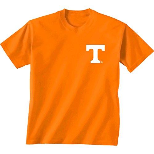 ennessee NCAA Team Madras Short Sleeve, Unisex, Tennessee Team Madras, Cc Tenn Orange ()
