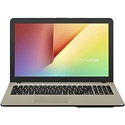 "ASUS D540NA-GQ059 VivoBook - Ordenador portátil de 15.6"" HD (Intel Celeron N3350, 4 GB RAM, 500 GB HDD, Endless OS), Negro Chocolate - Teclado QWERTY Español"