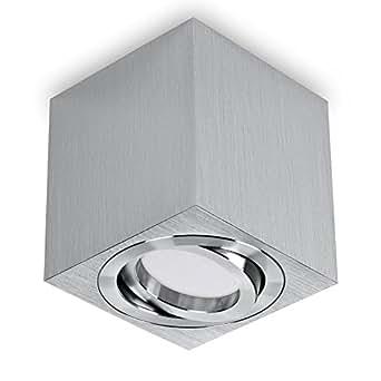 deckenaufbaustrahler aufbauleuchte aufputz deckenleuchte schwenkbar aluminium geb rstet gu10. Black Bedroom Furniture Sets. Home Design Ideas