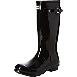 Hunter Original Gloss, Botas de Lluvia Unisex Niños, Negro, 24 EU (7 Child UK)
