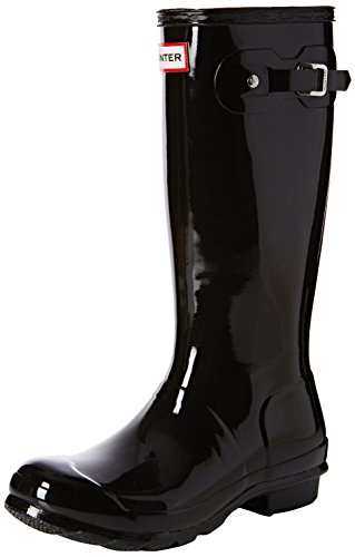 Hunter Original Gloss, Unisex-Kinder Stiefel, Schwarz, 24 EU (7 Child UK) (Kinder Original Hunter Stiefel)