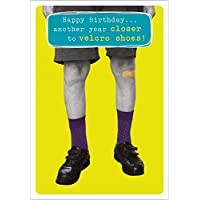 Humorous Male Birthday Card from The Frank by Name Range - Velcro Shoes - Greeting Card for Him (ABA-11482)