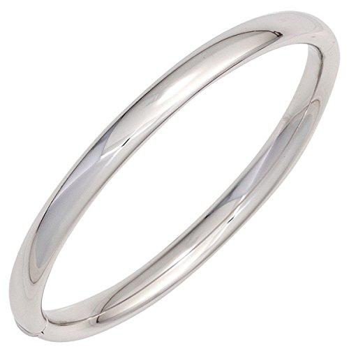 JOBO Armreif 925 Sterling Silber rhodiniert oval Kastenschloss