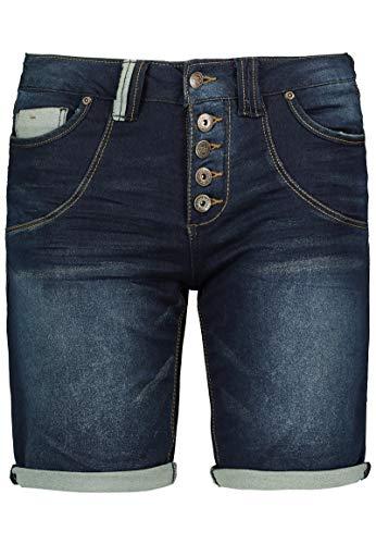 Urban Surface Damen Jeans Bermuda-Shorts | Kurze Hosen aus Denim für den Sommer Dark-Blue S - Damen Hose Shorts