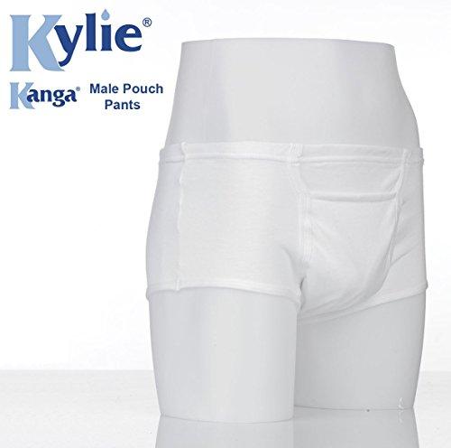 Kanga macho bolsa protectora de para hombre ropa interior, blanco, XL