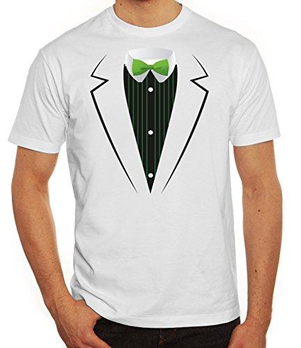 Saint Patrick's Day St. Patricks Day Herren T-Shirt St. Patricks Suit Weiß