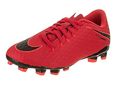 brand new b5e06 2c852 Nike JR Hypervenom Phelon III FG, Chaussures de Football Mixte Enfant, Rot  (Universität