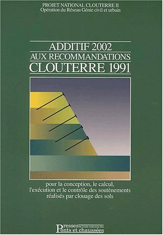Additif 2002 aux recommandations Clouterre 1991