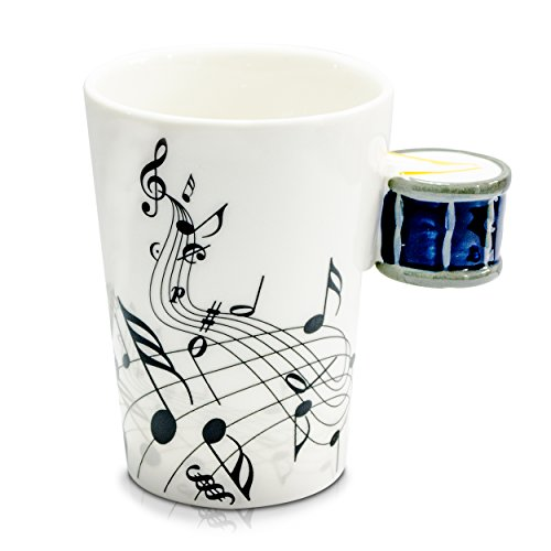 venkon-music-mug-with-snare-drum-shaped-handle-in-a-gift-box-200-ml-ceramic