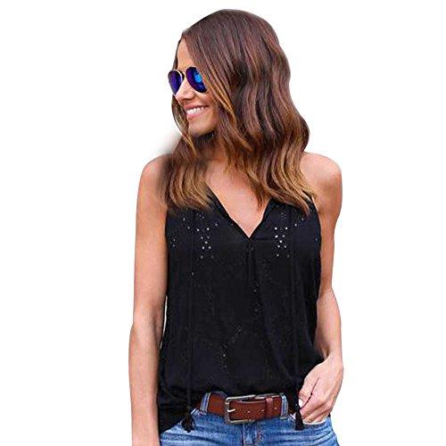 OIKAY Shirtkleider Damen Ärmellose Beiläufige Bluse Tops Frauen Pullover Solide T-Shirt