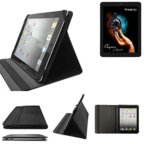 Kiano Elegance 8 3G Schutz Hülle Business Case Tablet Schutzhülle Flip Cover Ultra Slim Bookstyle Tasche für Kiano Elegance 8 3G, schwarz. Kunstleder Qualitätsware - K-S-Tra
