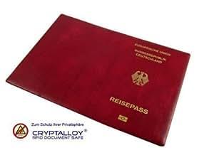 RFID-Schutzetui # Schutzhülle für deutschen Reisepass # RFID-Chip kann nicht unerwünscht ausgelesen werden