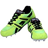 Firefly Men's Running Spike Green With Set Of Turf Stainless Steel Nails Running/Hiking / Walking/Field / Track Shoes