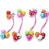 4 x Banda Elástico para Pelo Cabello Bolas Plástico Colores Niñas