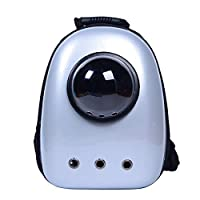 YEXIN Pet Cat Dog Backpack Bubble Backpack Pet Travel Bag Small Dog Space Capsule Knapsack Porous Breathable (Color : White)