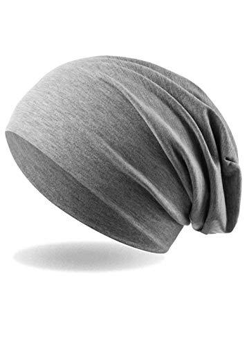 Occulto Unisex Slouch Beanie aus feinem und wärmenden Jersey (Grey)