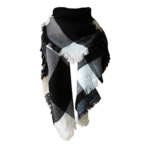 FinDaDa Damen-Winter-warmer Kaschmir erhöhen doppelseitigen bunten quadratischen Schal, schal damen winter kariert
