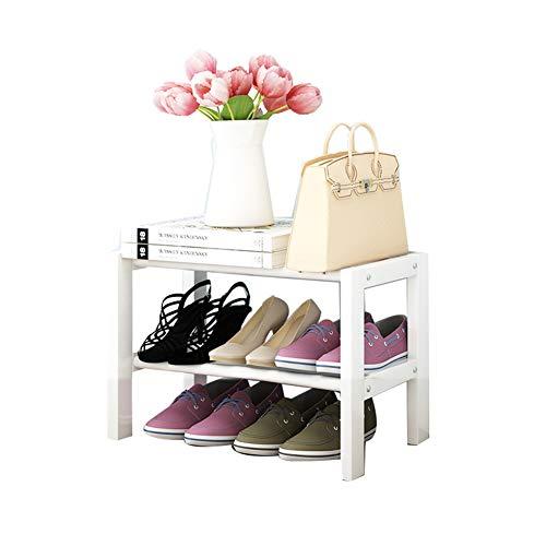Armoire de Chaussure Multi-Fonctionnelle Peut être superposée en Bois Massif Rack de Chaussures dortoir économie Rack de ménage,doublelayer