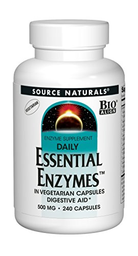 Source Naturals, Daily Essential Enzymes (tägliche essentielle Enzyme), 500mg, 240 Vegetarische Kapseln (Source C Naturals Vitamin)
