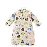 Baby Winter schlafsack Kinder schlafsack 3.5 Tog Schlafsaecke aus Bio Baumwolle Verschiedene Groessen von Geburt bis 4 Jahre alt (M/6-18Monate, Pink_Owl)