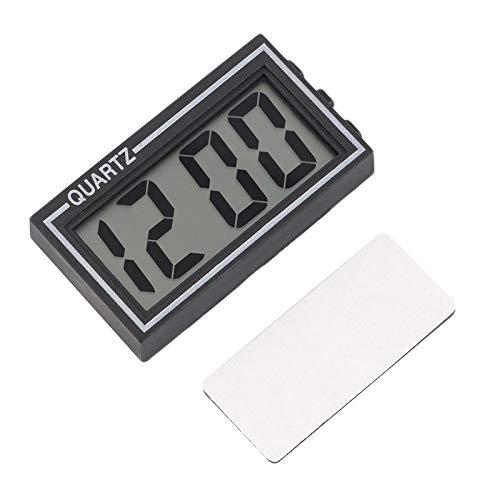 BianchiPag Schwarz Kunststoff Small Size Digital LCD Tisch Auto-Armaturenbrett Schreibtisch Datum Zeit Kalender Kleine-Uhr mit Kalender-Funktion TS-CD92