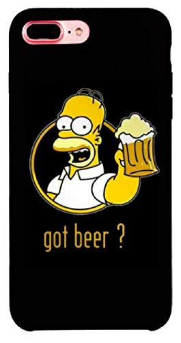 Art Design Hülle für iPhone 7+ Plus/iPhone 8+ Plus Supreme Homer Simpson Bart Got Beer Bier Chill Soft Silikon - Mickeys Bier