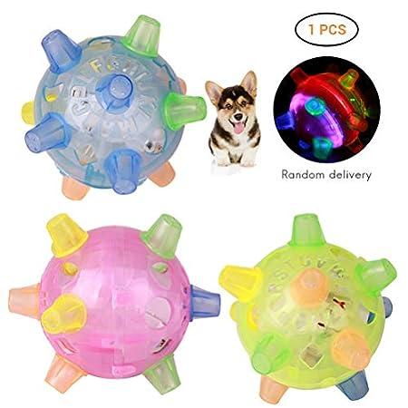 SAMTITY Springball Blinkender Musikball, Kreative Elektrische Springen Aktivierung Ball Hund Kauen Spielzeug Tanzen Ball Geschenk Neue Freundliche Spielzeug Für Hunde