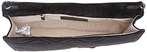Twin Set Oa7tbd, Borsa a Tracolla Donna, 5x19x30.5 cm (W x H x L) Nero