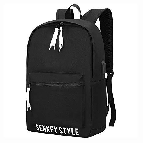 FPTB Business-Computer-Rucksack, wasserabweisender Tagesrucksack mit USB-Ladeanschluss, Nylontuch, Schultaschen für Männer, 15,6 Zoll Laptop