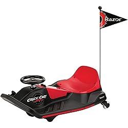 Razor Crazy Cart Shift - Vehículo eléctrico para niños, color rojo