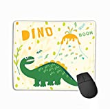 Custom Mouse Pad,11.81 X 9.84 inch Unique Printed Mouse Mat Design Dinosaur Style Comic Book Text Children s Clothing s Fabrics Post Halftone
