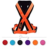 Jamory Hundegeschirr X Geschirr Zuggeschirr Brustgeschirr Hund Hundesport verstellbar Feleece (M, Orange)