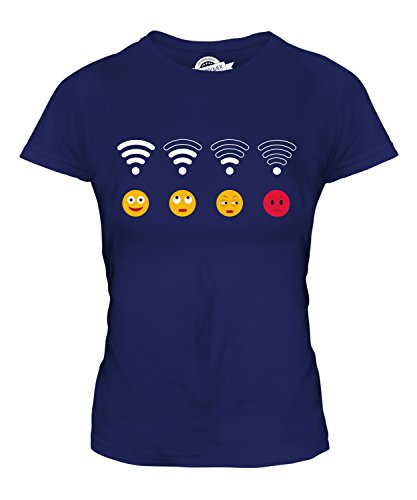 Candymix - Wifi Emoji - Ladies Fitted T Shirt Top T-Shirt