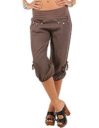 ShallGood Pantalons Femmes Ample Pantalon 3 4 Sarouel Pantalons Eté Short  Casual Boyfriend Pantalon Yoga 84bb34790c2