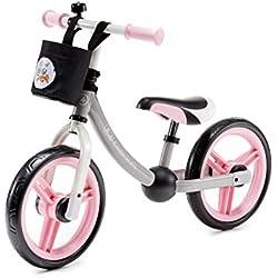 Kinderkraft Draisienne en Métal 2WAY NEXT, Vélo sans Pédale, Accessoires, Rose