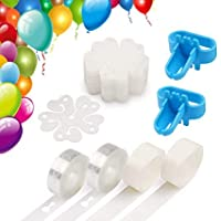 OfferDeal Balloon Decorating Strip Kit for Arch Garland 32Ft Balloon Tape Strip, 2 Pcs Tying Tool, 200 Dot Glue, 10 Flower Clip for Party Wedding Birthday Xmas Baby Shower DIY Decoration Supplies (A)
