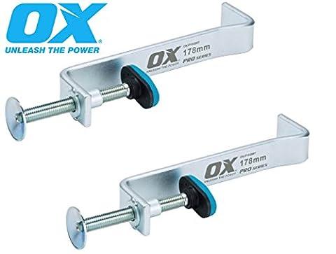 2 X OX TOOLS PRO P102012 300MM INTERNAL BUILDING Brick