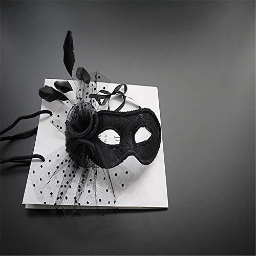 ADS Weihnachts Kostüm Kugel Feder Maske Fotografie Photo Maske Make-Up-Party Maske Bühne Show Maske Geheimnisvoll Sexy (Blind Date Kostüm)
