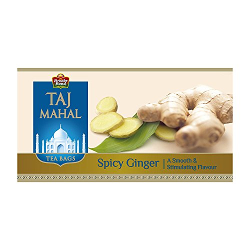 Taj Mahal Spicy Ginger Tea Bags, 25 Pieces