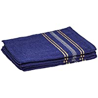 Panache Exports Regal Hand Towel Set, Navy Blue, 38 cm x 58 cm, PEREGHAN01, 4 Pieces