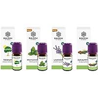 Baldini - Aromatherapie Bio Öle Hausapotheke: Eukalyptusöl, Lavendelöl, Pfefferminzöl, Teebaumöl, je 5 ml, 100%... preisvergleich bei billige-tabletten.eu