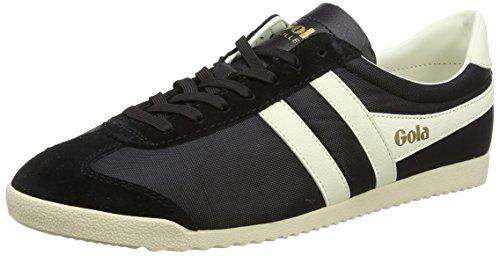 Gola Herren Bullet Nylon Sneaker, Schwarz (Black/Ecru), 43 EU (Gola Schwarz Schuhe)