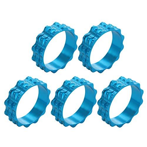 LIOOBO 5 Stücke 10 MM CNC Durchmesser Fahrradscheibe Distanzscheiben Dichtung Gabel Headset Teile (Blau)